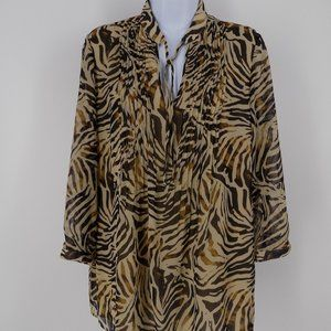 'Jones New York' Top, Blouse, Tunic - Animal Print